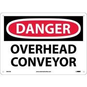 Danger, Overhead Conveyor, 10X14, Fiberglass