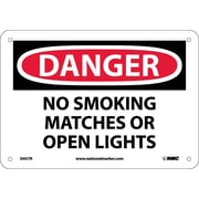 Danger, No Smoking Matches Or Open Lights, 7X10, Rigid Plastic