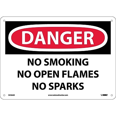 Danger, No Smoking No Open Flames No Sparks, 10