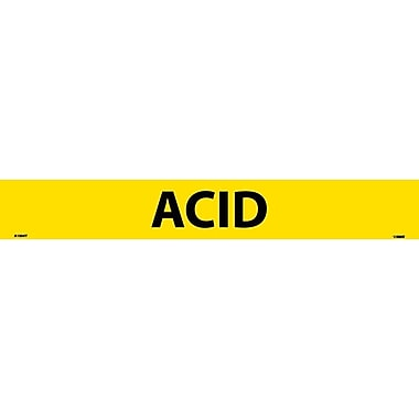 Pipemarker, Adhesive Vinyl, 25/Pack, Acid, 2