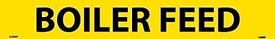 Pipemarker, Adhesive Vinyl, Boiler Feed, 2X14 1 1/4