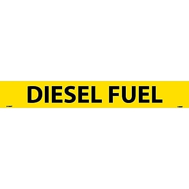 Pipemarker, Adhesive Vinyl, Diesel Fuel, 2X14 1 1/4