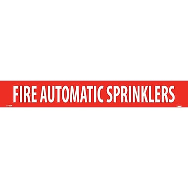 Pipemarker, Adhesive Vinyl, 25/Pack, Fire Automatic Sprinklers, 2