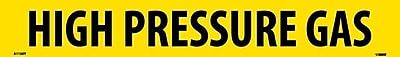 Pipemarker, Adhesive Vinyl, High Pressure Gas, 2X14 1 1/4