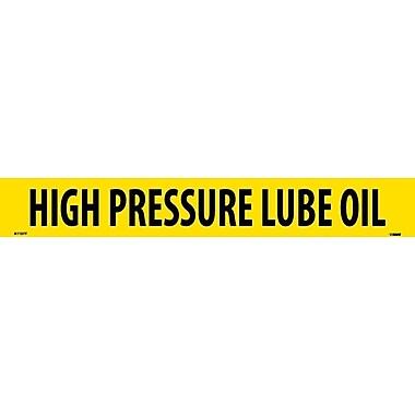 Pipemarker, Adhesive Vinyl, 25/Pack, High Pressure Lube Oil, 2