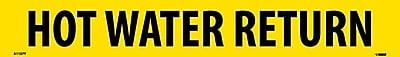 Pipemarker, Adhesive Vinyl, Hot Water Return, 2X14 1 1/4