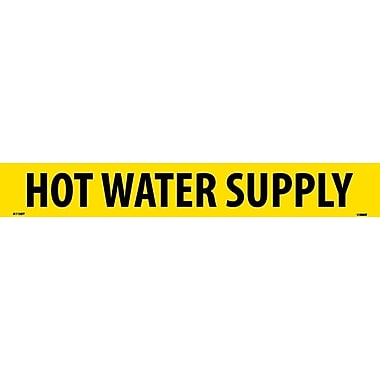 Pipemarker, Adhesive Vinyl, 25/Pack, Hot Water Supply, 2