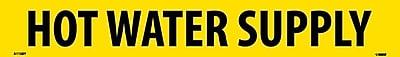 Pipemarker, Adhesive Vinyl, Hot Water Supply, 2X14 1 1/4