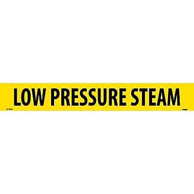 Pipemarker, Adhesive Vinyl, Low Pressure Steam, 2X14 1 1/4