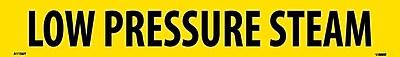 Pipemarker, Adhesive Vinyl, Low Pressure Steam, 2X14 1 1/4