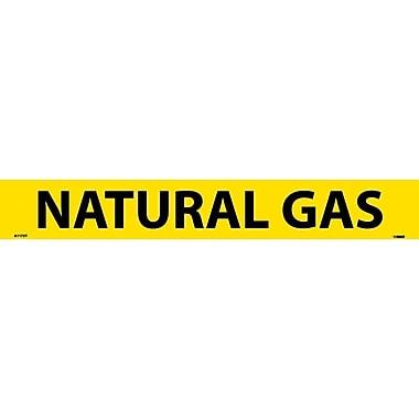 Pipemarker, Adhesive Vinyl, Natural Gas, 2X14 1 1/4