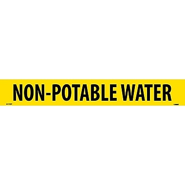 Pipemarker, Adhesive Vinyl, Non-Potable Water, 2X14 1 1/4