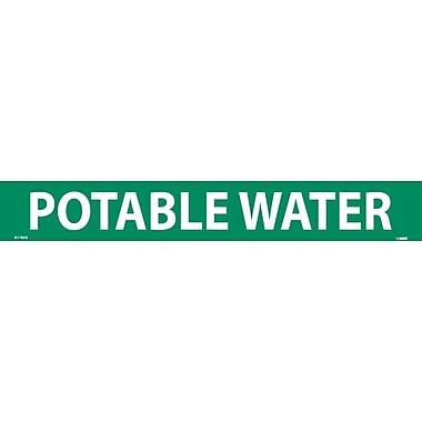 Pipemarker, Adhesive Vinyl, 25/Pack, Potable Water, 2