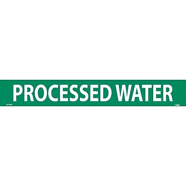 Pipemarker, Adhesive Vinyl, 25/Pack, Processed Water, 2