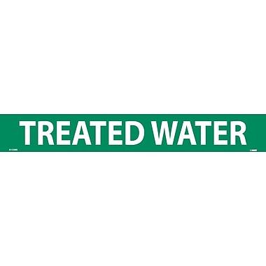 Pipemarker, Adhesive Vinyl, Treated Water, 2X14 1 1/4