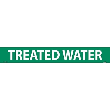 Pipemarker, Adhesive Vinyl, 25/Pack, Treated Water, 2