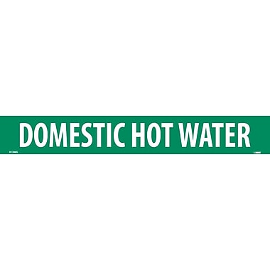 Pipemarker, Domestic Hot Water, 2