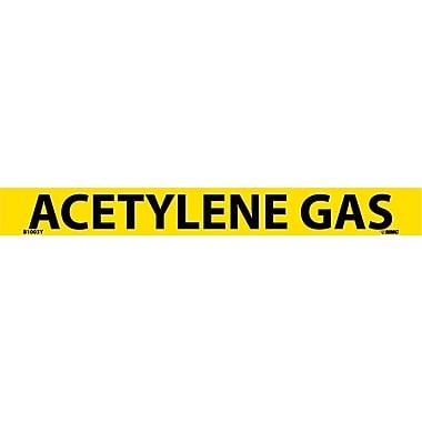 Pipemarker, Adhesive Vinyl, 25/Pack, Acetylene Gas, 1