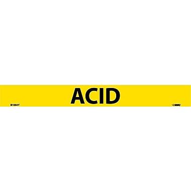 Pipemarker, Adhesive Vinyl, 25/Pack, Acid, 1