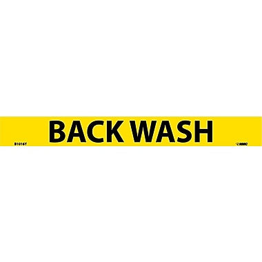 Pipemarker, Adhesive Vinyl, Back Wash, 1X9 3/4