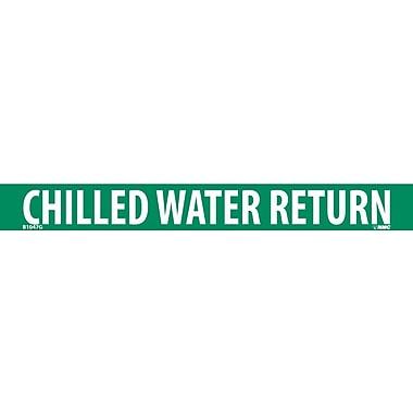 Pipemarker, Adhesive Vinyl, 25/Pack, Chilled Water Return, 1