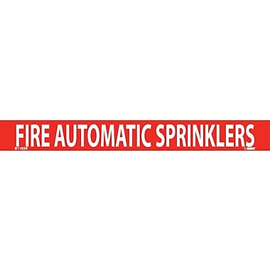 Pipemarker, Adhesive Vinyl, Fire Automatic Sprinklers, 1X9 3/4