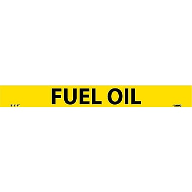 Pipemarker, Adhesive Vinyl, Fuel Oil, 1X9 3/4