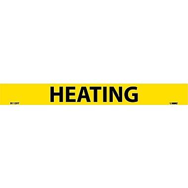 Pipemarker, Adhesive Vinyl, Heating, 1X9 3/4