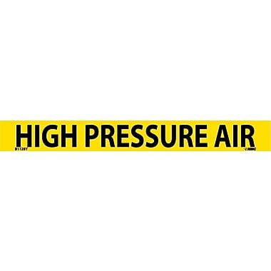 Pipemarker, Adhesive Vinyl, High Pressure Air, 1X9 3/4