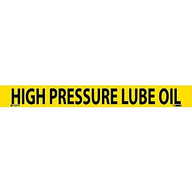 Pipemarker, Adhesive Vinyl, 25/Pack, High Pressure Lube Oil, 1
