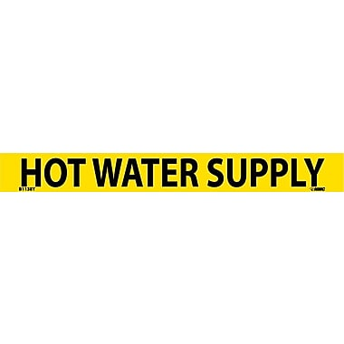 Pipemarker, Adhesive Vinyl, Hot Water Supply, 1X9 3/4