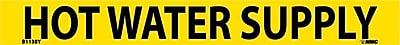 Pipemarker, Adhesive Vinyl, Hot Water Supply, 1X9 3/4