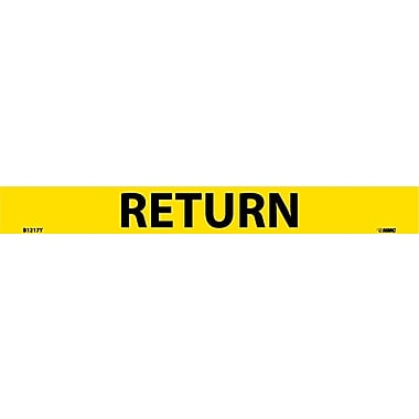 Pipemarker Adhesive Vinyl Return, 1X9 3/4