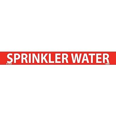 Pipemarker, Adhesive Vinyl, Sprinkler Water, 1X9 3/4