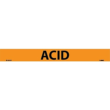 Pipemarker, Acid, 1X9 3/4 Letter, Adhesive Vinyl
