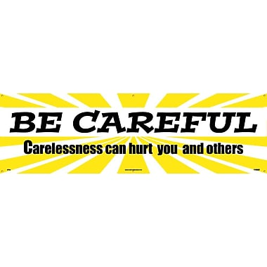 Banner, Be Careful Carelessness Can Hurt You And Others, 3' x 10'
