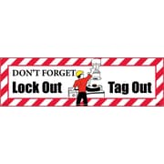 Banner, Don'T Forget Lockout Tagout , 3Ft X 10Ft