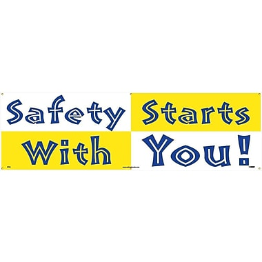 Banner, Safety Starts with You, 3' x 10'