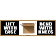 Banner, Lift With Ease Bend With Knees, 3Ft X 10Ft