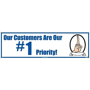 Banner, Our Customers Are Our #1 Priority, 3' x 10'