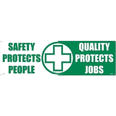 Banner, Safety Protects People Quality Protects Jobs, 3' x 10'