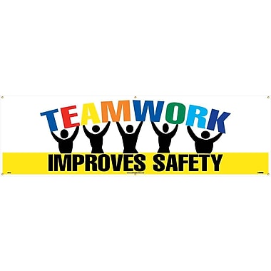 Banner, Teamwork Improves Safety, 3Ft X 10Ft