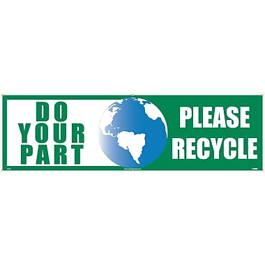 Do Your Part Graphic Please Recycle, 3' x 10', Polyethylene