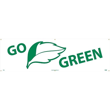 Go (Graphic) Green, 3Ft X 10Ft, Polyethylene