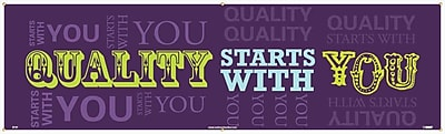 Banner, Quality Starts With You, 3Ft X 10Ft