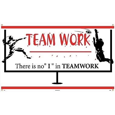 Banner, Team Work There Is No I In Teamwork, 3' x 5'