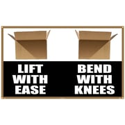 Banner, Lift With Ease Bend With Knees, 3Ft X 5Ft