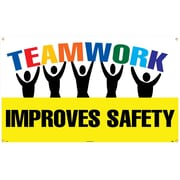 Banner, Teamwork Improves Safety, 3Ft X 5Ft