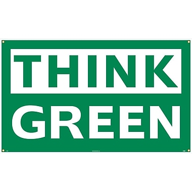 Think Green, 3Ft X 5Ft, Polyethylene