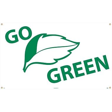 Go Graphic Green, 3' x 5', Polyethylene